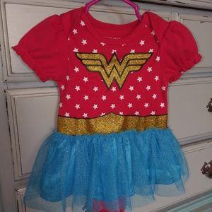 Hot Topic Wonder Woman brand Onesie costume